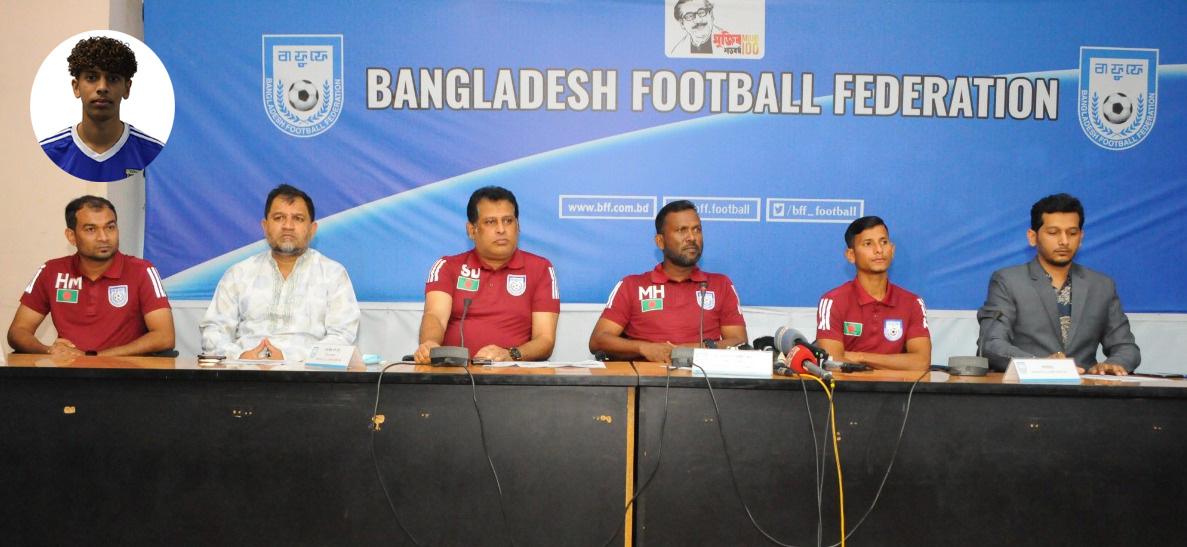 প্রবাসী ইউসুফ জুলকারনাইনকে নিয়েই অনুদ্ধ-২৩ ফুটবল দল ঘোষণা