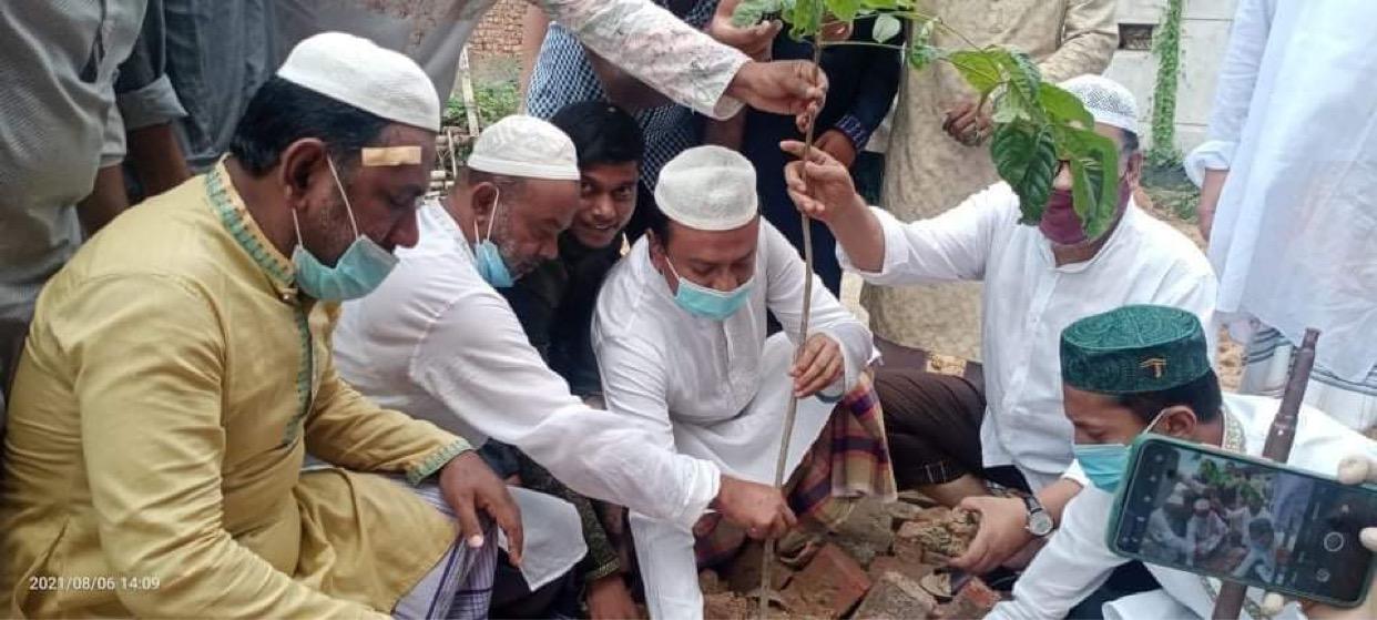 ঢাকা-০৫ আসনে কামরুল হাসান রিপনের বৃক্ষরোপণ