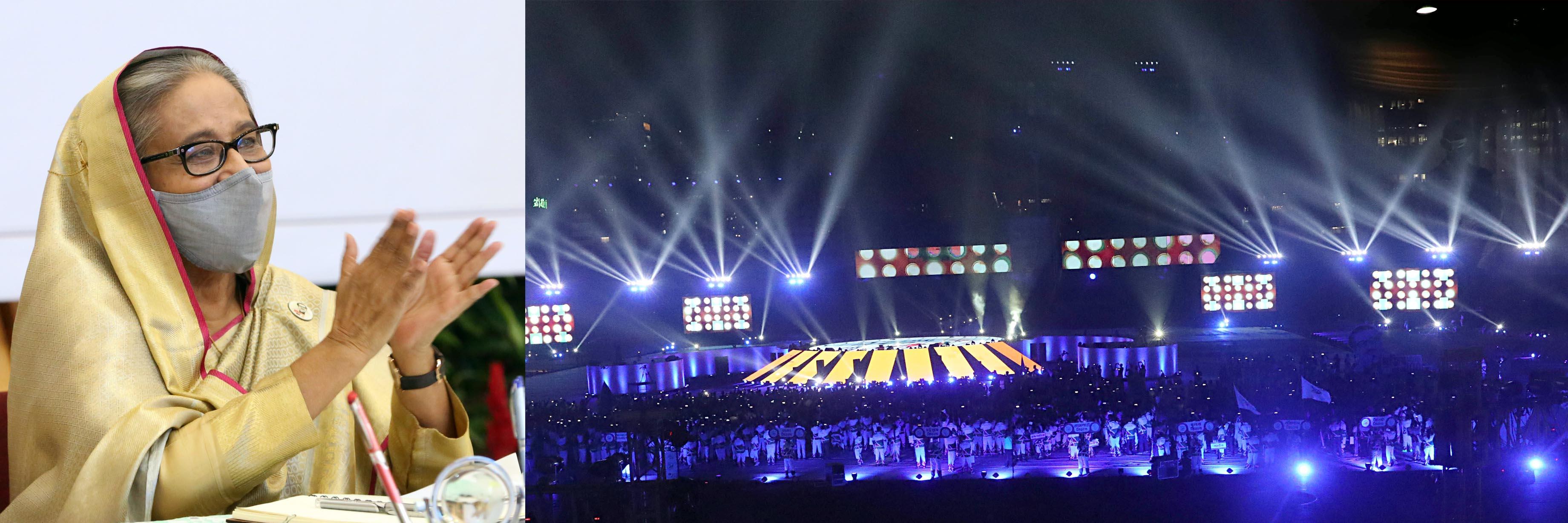 বঙ্গবন্ধু ৯ম বাংলাদেশ গেমস্ ২০২০ উপলক্ষে প্রধানমন্ত্রীর ভাষণ
