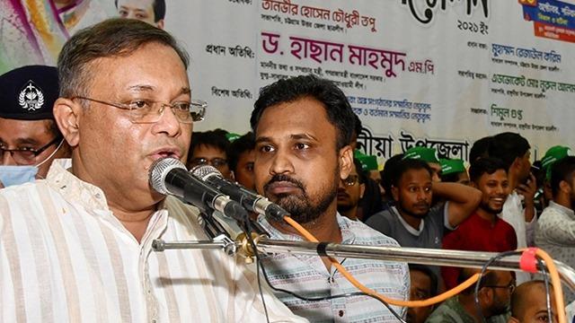 কুমিল্লার ঘটনায় বিএনপি-জামায়াত যুক্ত : হাছান মাহমুদ